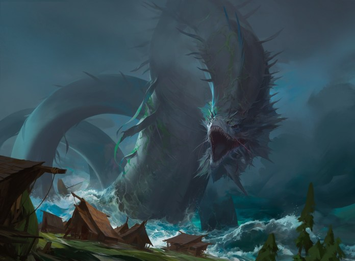 Aesi Tyrant of Gyre Strait Art from Commander Legends